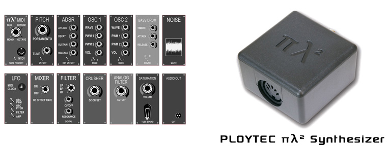 Ploytec πλ² (PL2) midipowered synthesizer