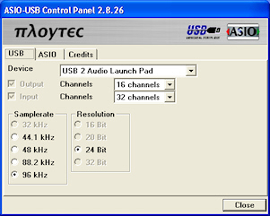 USB Audio ASIO driver